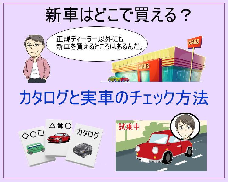 新車が買えるところと新車カタログと実車のチェック方法。