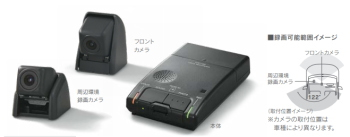 レクサスLCの純正ドライブレコーダー