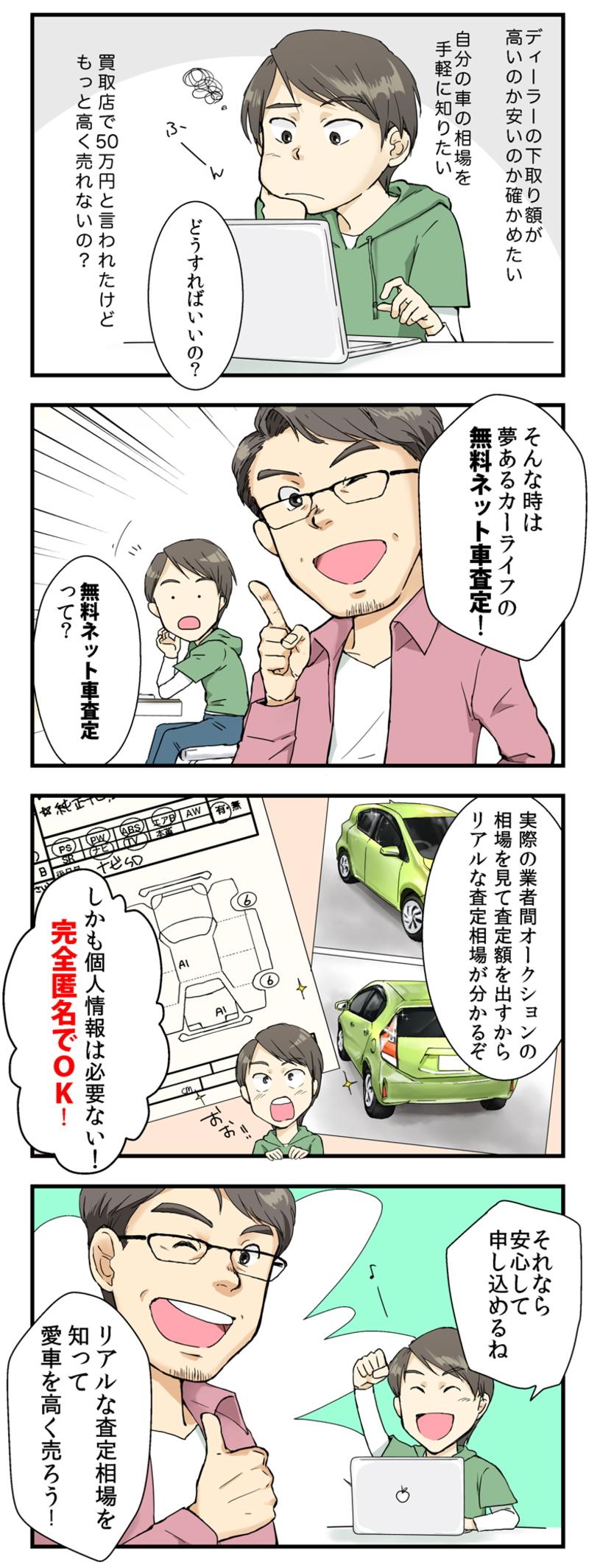 夢あるカーライフの無料ネット車査定