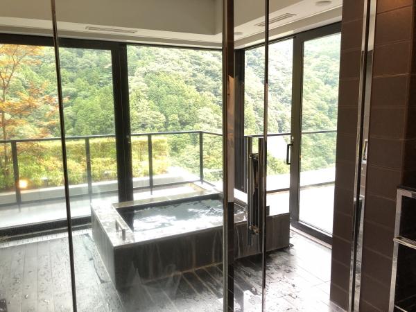 エクシブ箱根の部屋風呂 温泉