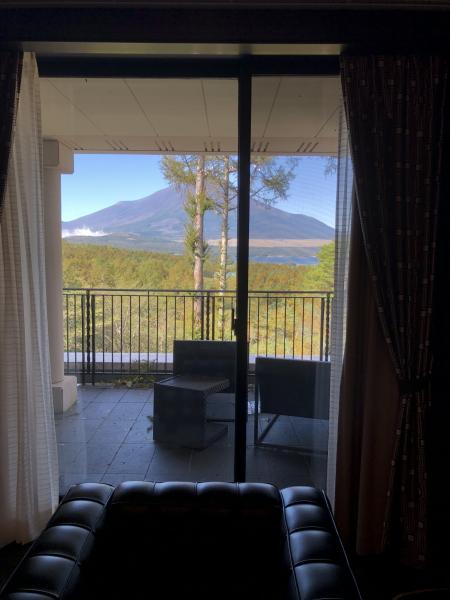エクシブ山中湖サンクチュアリから見える富士山