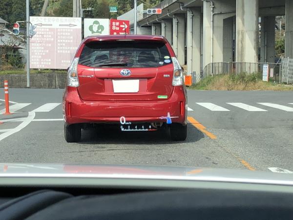 上信越道から一般道へ LCのカラーヘッドアップディスプレイ
