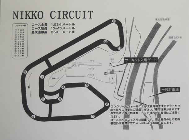 日光サーキット コース図