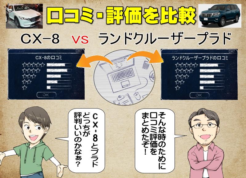 CX-8とランドクルーザープラドの口コミの比較・評価