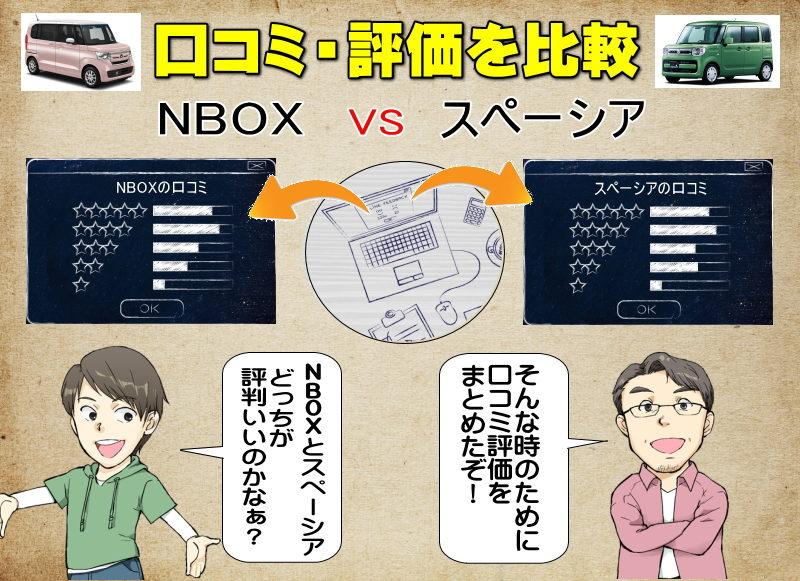 NBOXとスペーシアの口コミの比較・評価