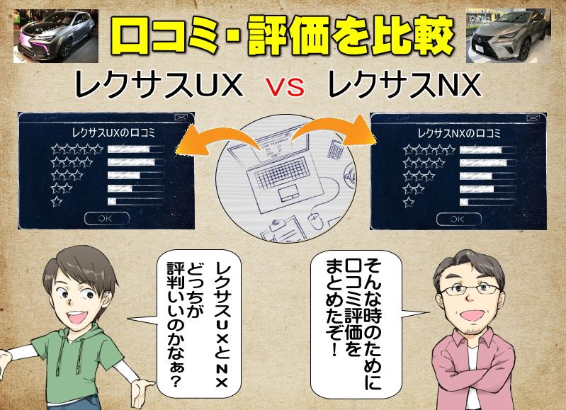レクサスUXとレクサスNXの口コミの比較・評価