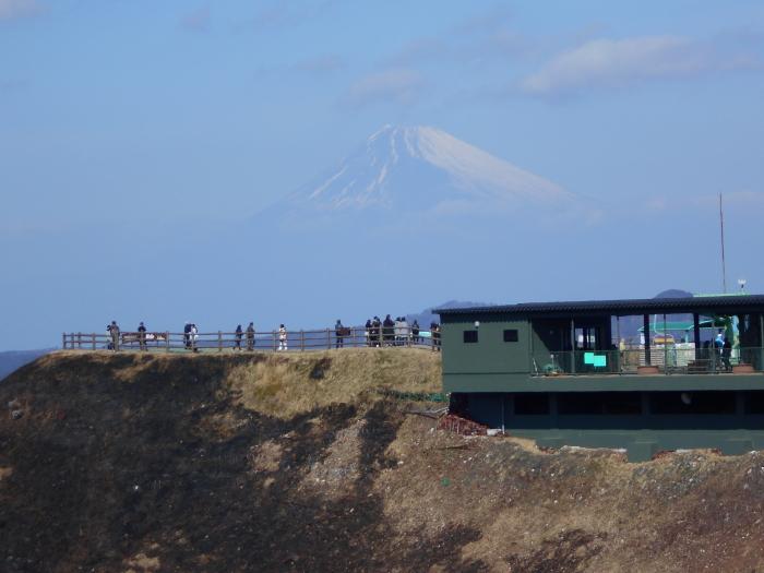 大室山 遊歩道からの富士山