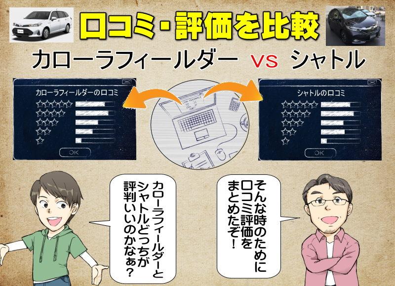 カローラフィールダーとシャトルの口コミの比較・評価