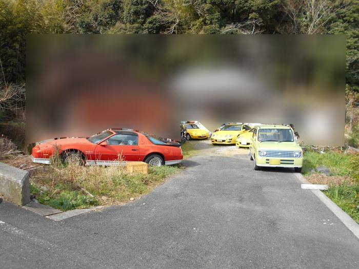 黄色いZ32型フェアレディZ とNA型ロードスターをパチリ!