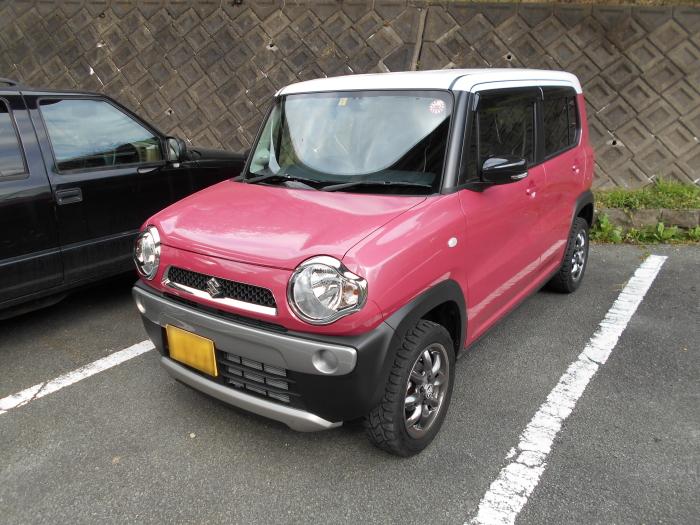 河津七滝の近くの無料駐車場にてハスラーをパチリ!