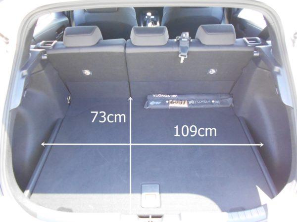カローラスポーツの後席使用時の荷室寸法