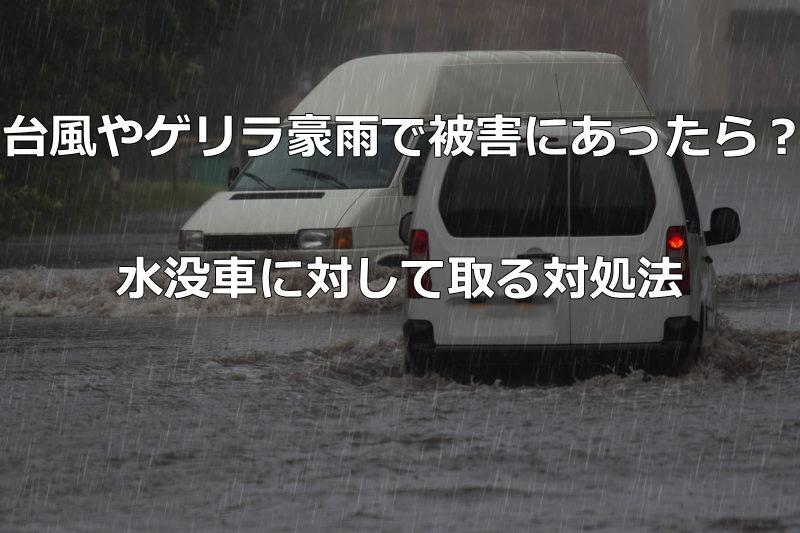 する 夢 が 水没 車