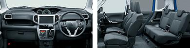 ソリオの標準車の内装
