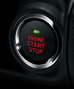 インプレッサスポーツのプッシュエンジンスイッチ