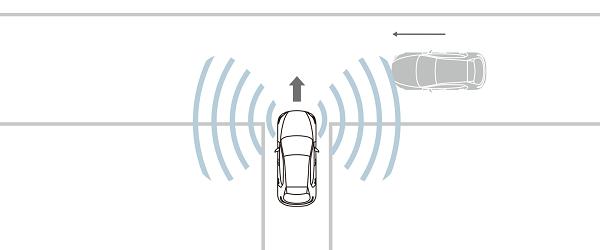 CX-30の前側方接近車両検知