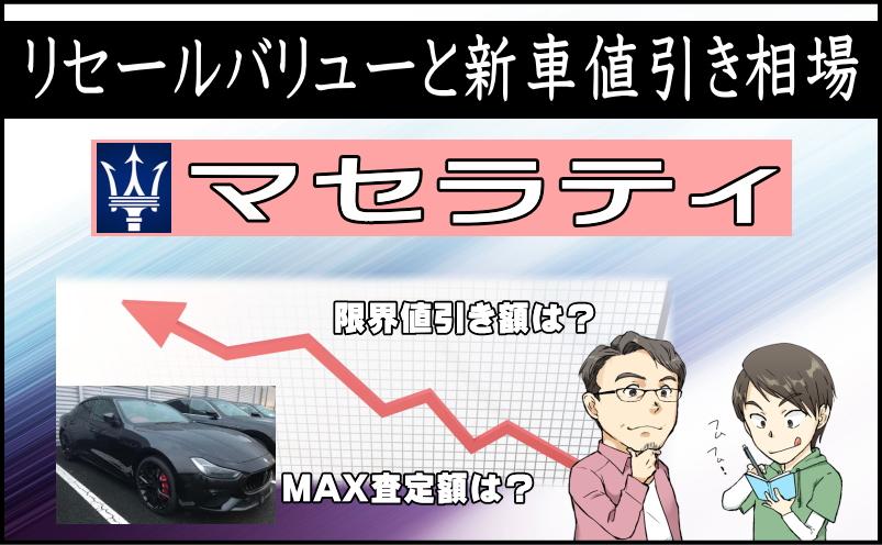 マセラティのリセールバリューと新車値引き相場