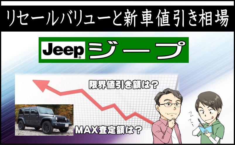 ジープのリセールバリューと新車値引き相場
